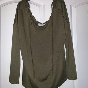 Sweaters - Navy Long-sleeve Shirt